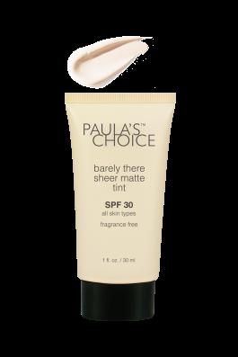 paula's choice barely there sheer tint in fair light