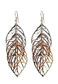 trades of hope tri leaf earrings