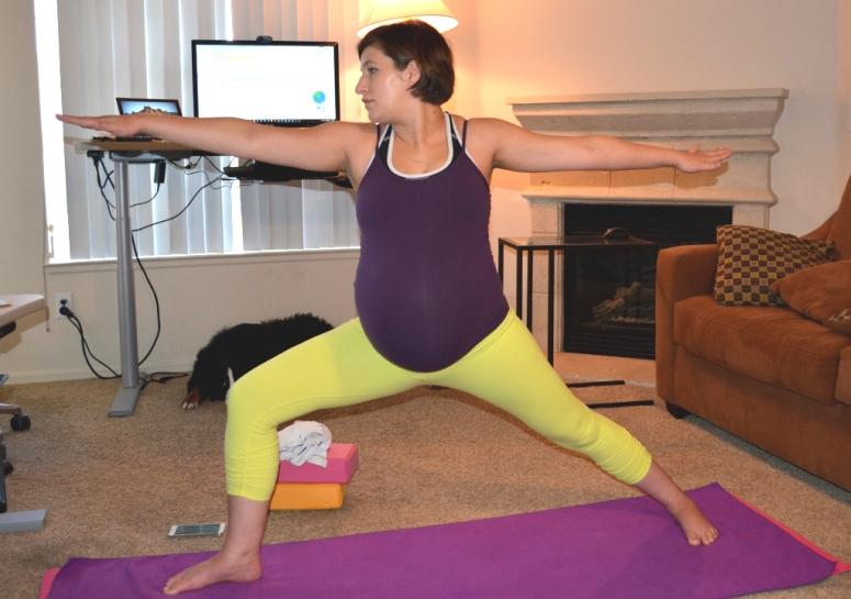 prenatal yoga warrior II