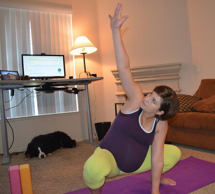 yogi squat side stretch